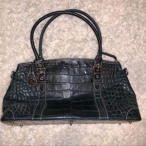 Dooney & Bourke mock croc leather satchel.